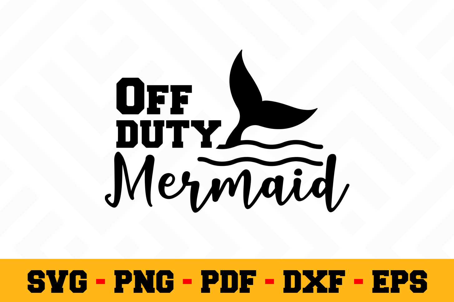Mermaid SVG Design n523 | Mermaid SVG Cut File example image 1
