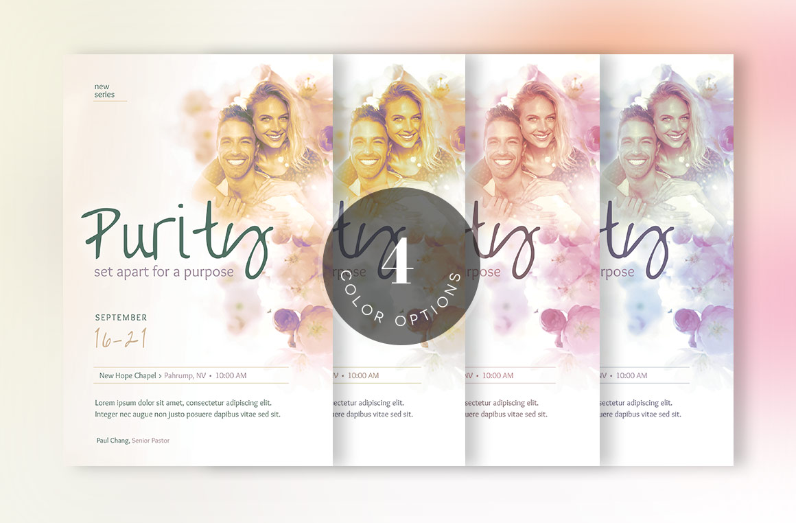 Purity Church Flyer Template example image 4