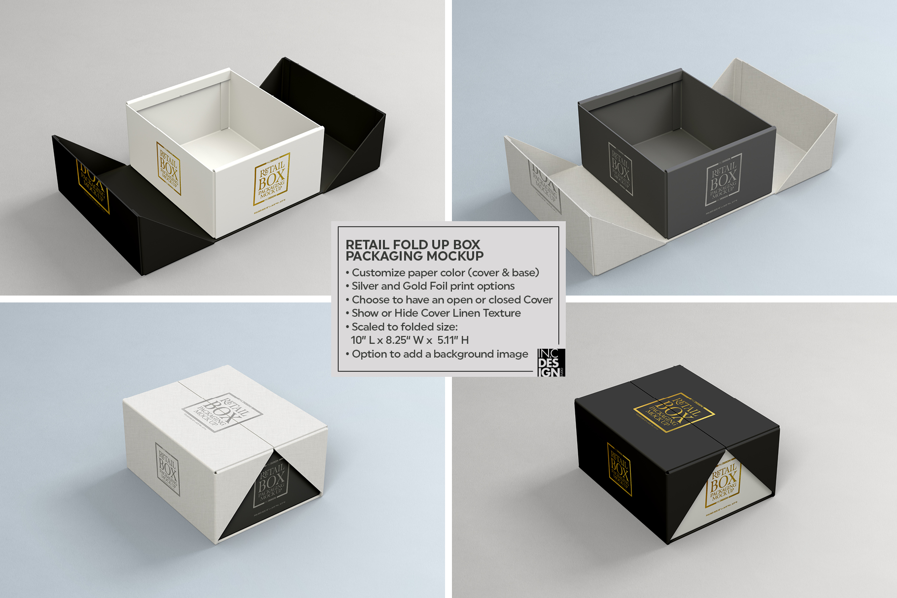 Fold Up Retail Box Packaging Mockup example image 3