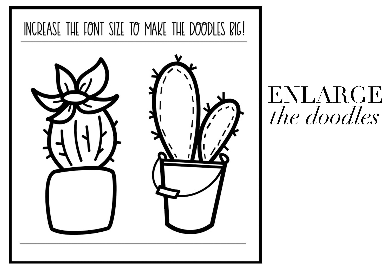 Fancactus - A Cactus & Succulent Doodle Font  example image 5