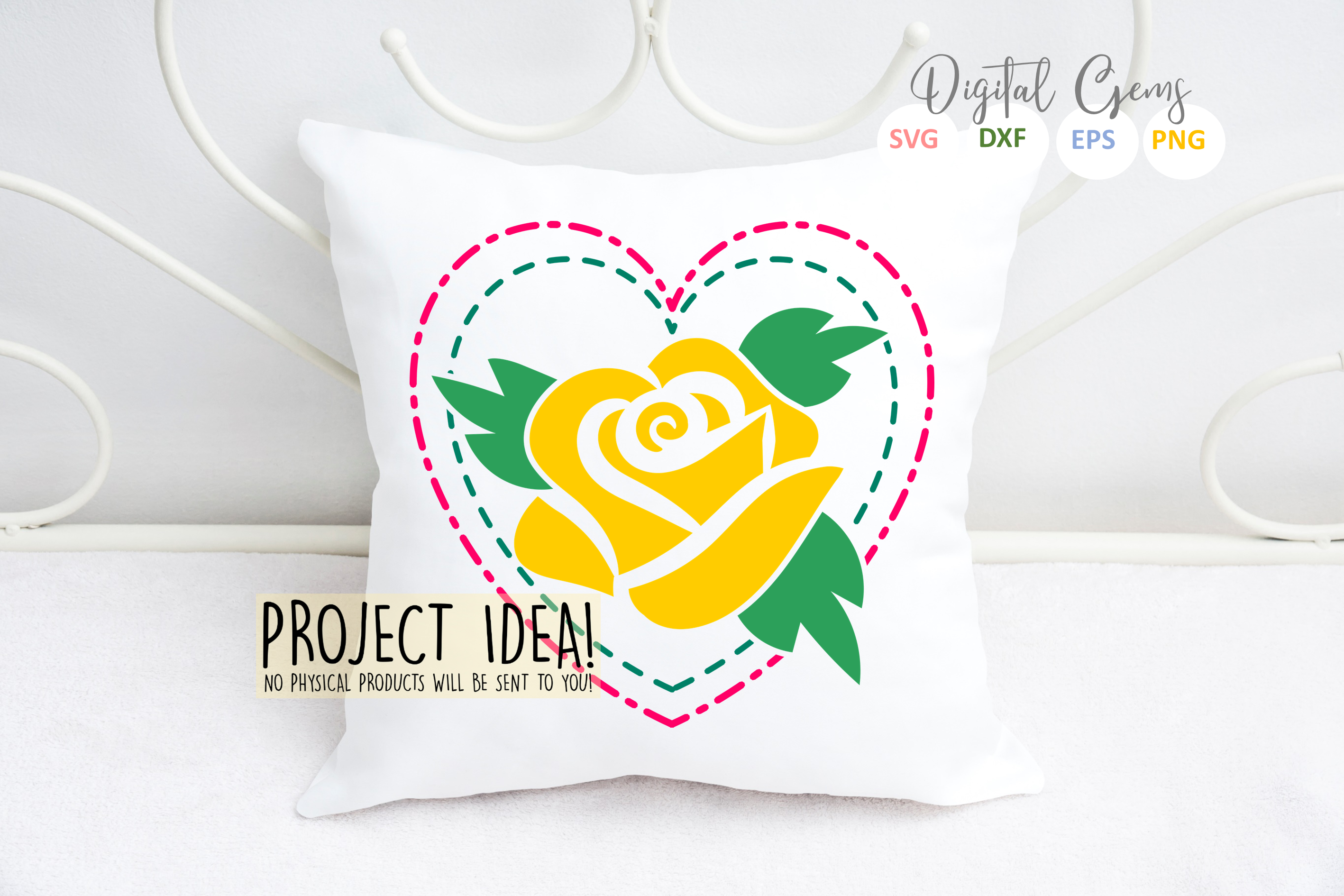 Rose SVG / PNG / EPS / DXF Files example image 2