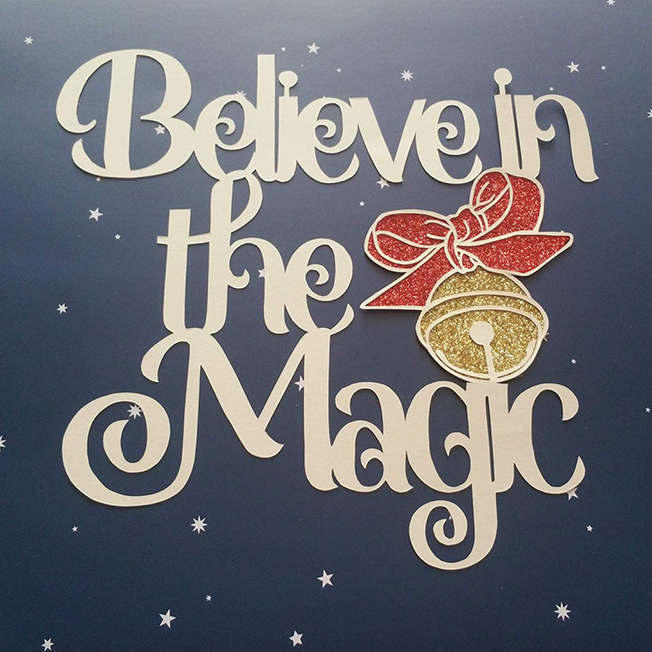 Believe in the Magic Papercutting Template example image 1