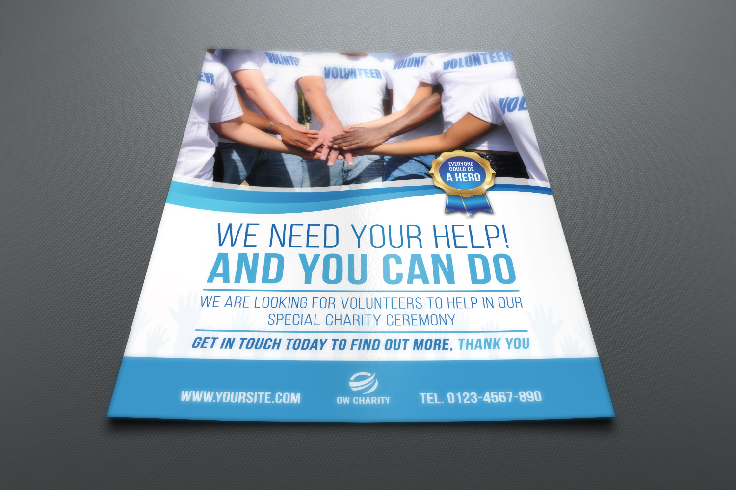 Volunteer Charity Flyer Template example image 2