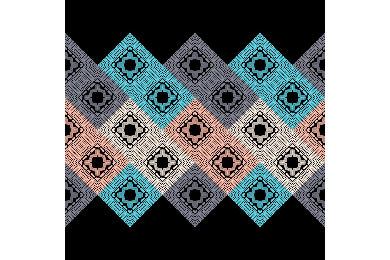 Zebra stripes. Ethnic boho ornament. 10 seamless patterns. example image 1