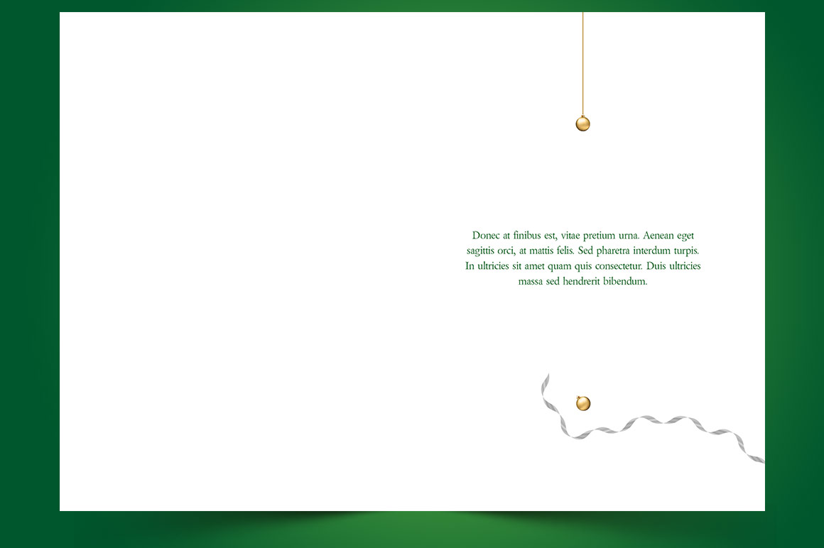 Green Christmas Greeting Card Template example image 5