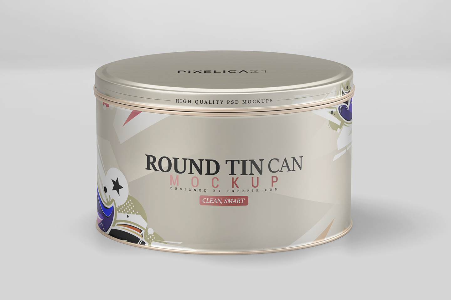 Round Tin Can Mockup example image 7