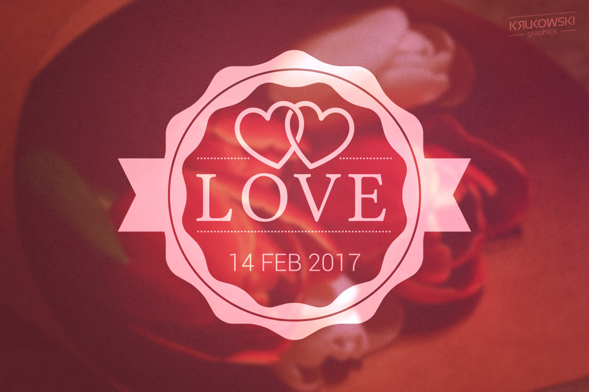 Valentine's Day Love Vector Badges Logos example image 3
