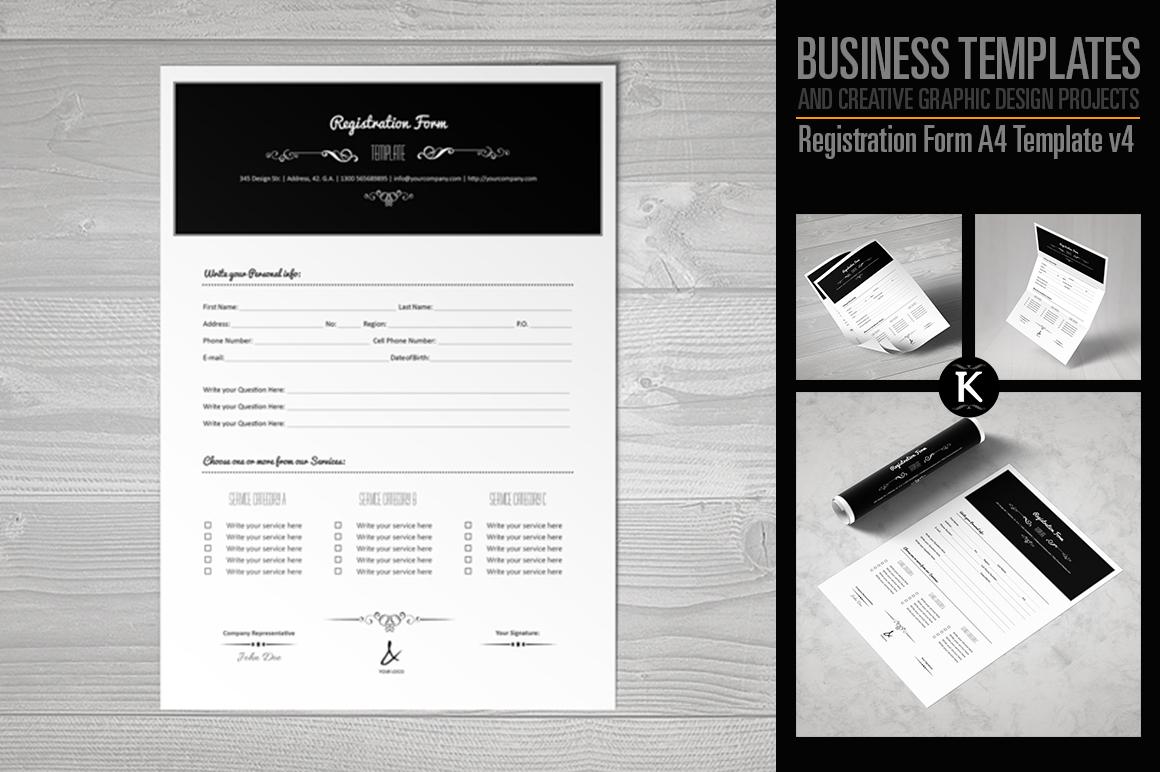 Registration Form Template v4 example image 1