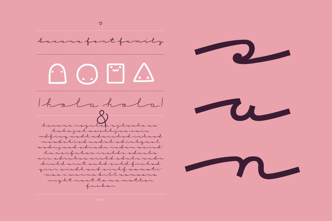 Bacana Font Family example image 6