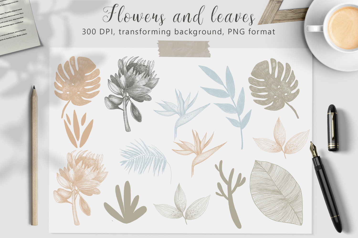 Hand drawn textures collection example image 1