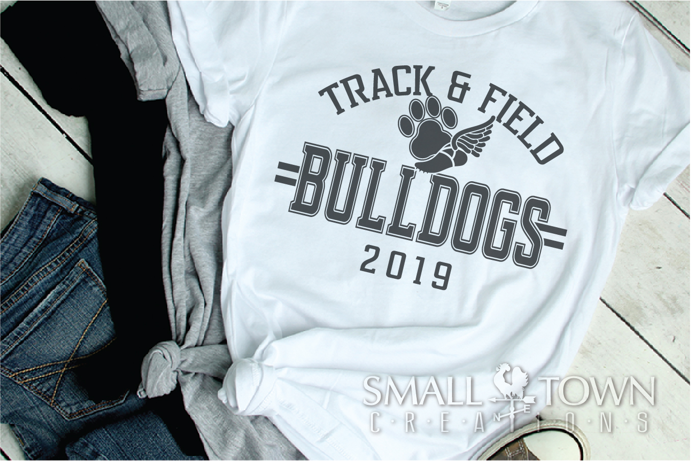Bulldogs Track and Field, bulldog mascot, PRINT, CUT, DESIGN example image 2