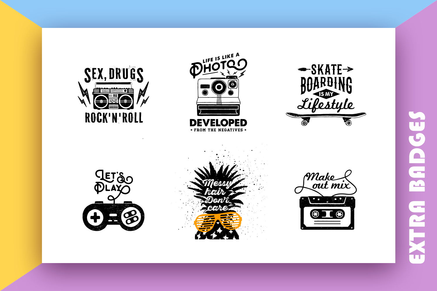 Back to the 90's. Hand Drawn Icons example image 5