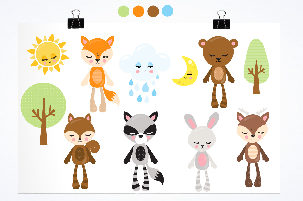 Woodland plushies graphics and illustrations example image 2