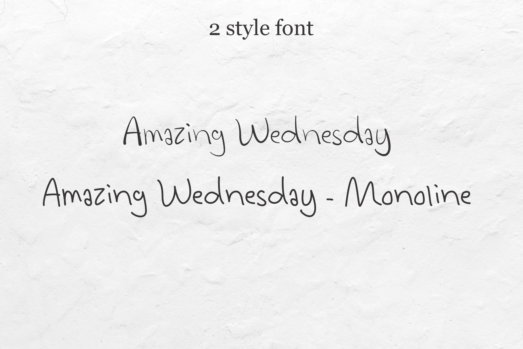 Amazing Wednesday - Handwritten Font example image 2