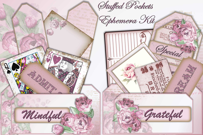 Stuffed Pockets Ephemera Kit for Journaling or Card making example image 1