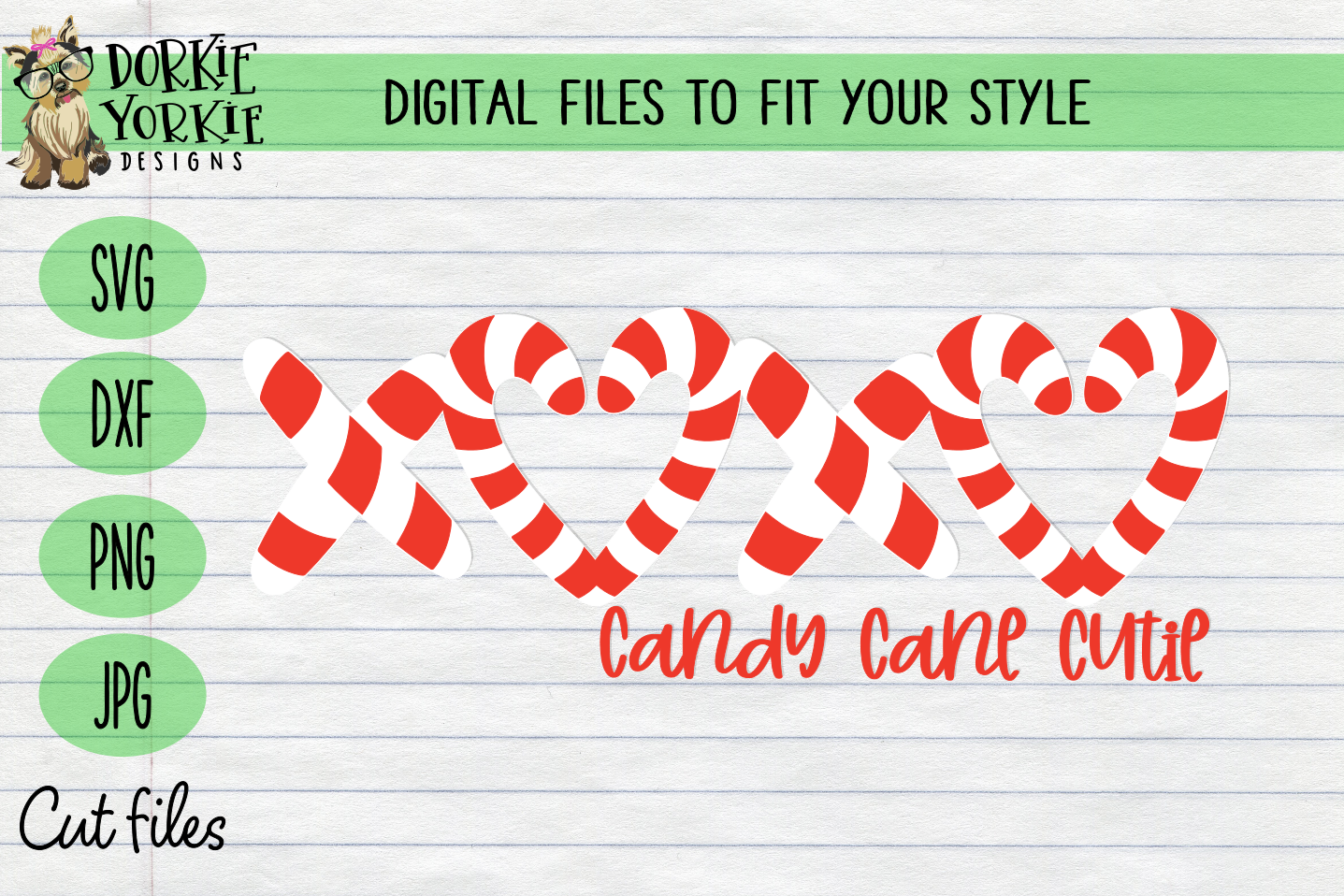 Candy Cane BUNDLE, Name, Heart, Cutie - Christmas, Xmas SVG example image 5
