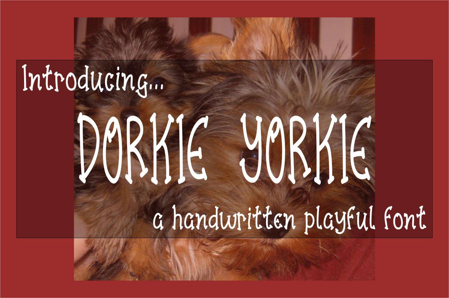 Dorkie Yorkie - A Handwritten Playful Font with BONUS SVG example image 1