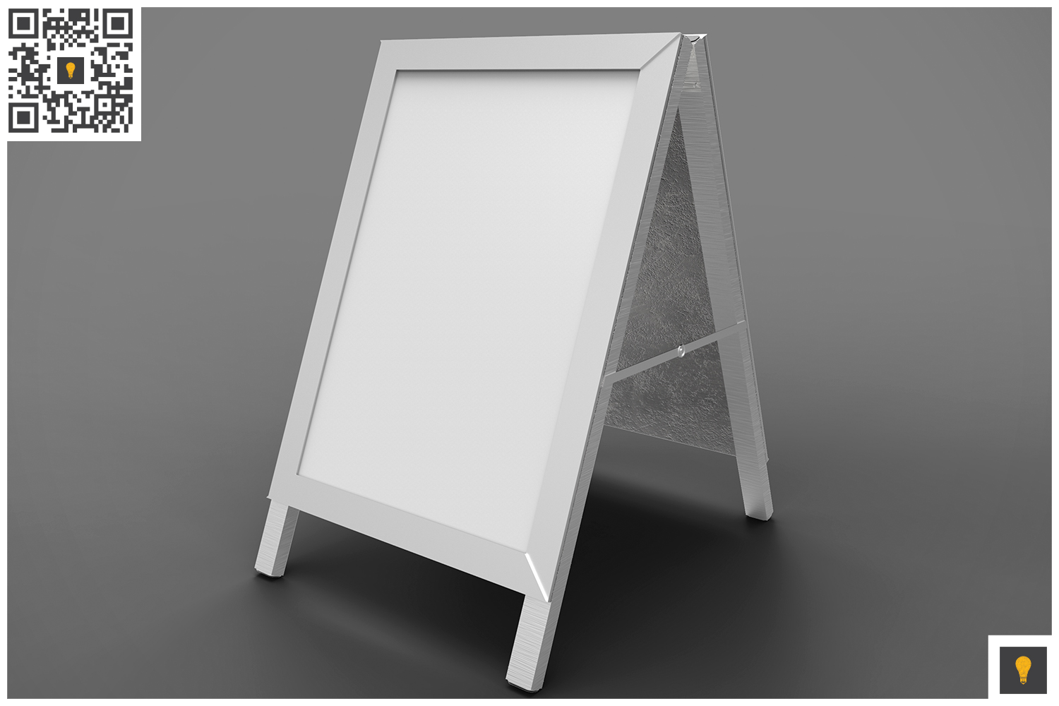 Poster Stand Display 3D Render example image 4