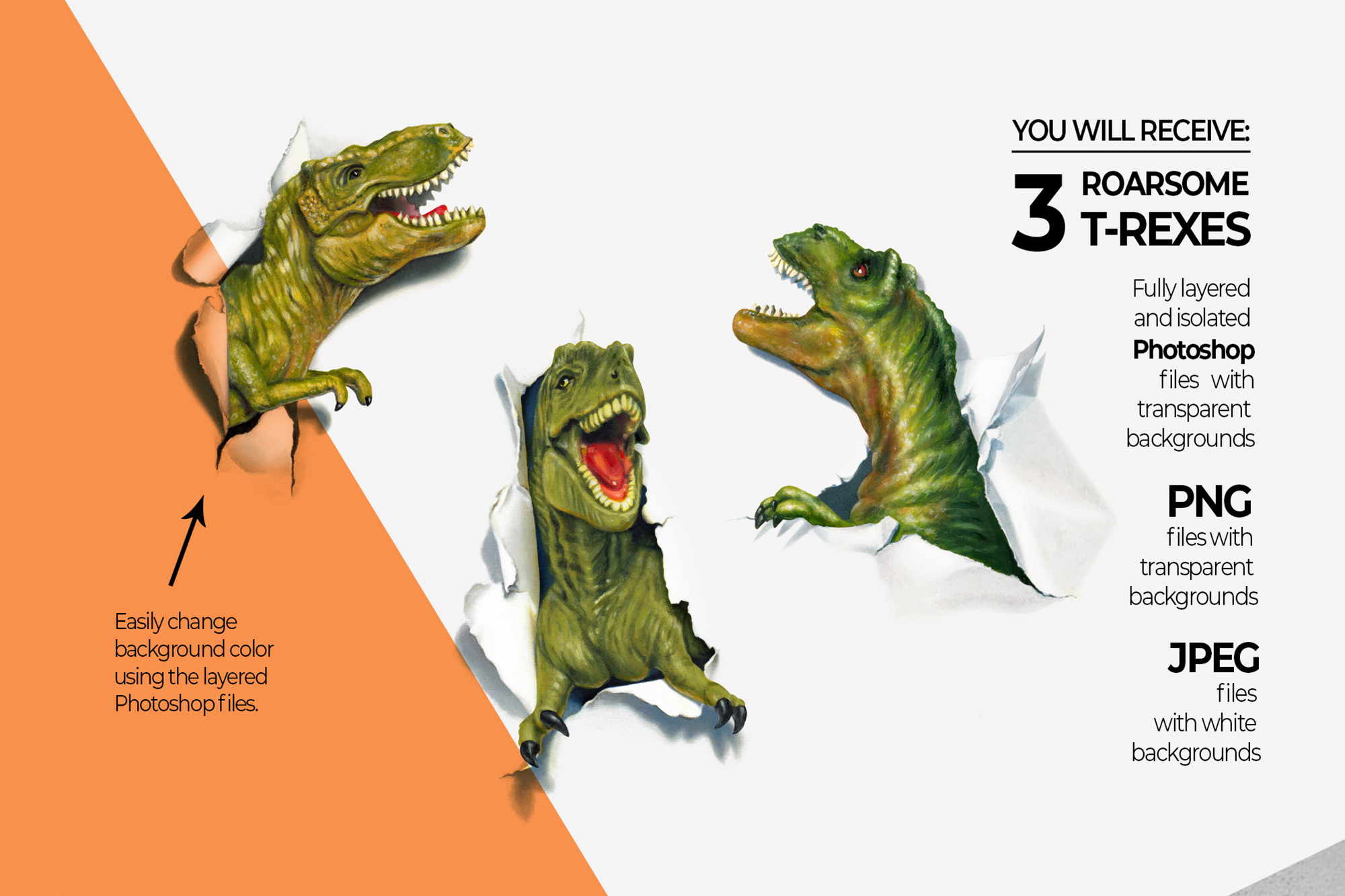 Dinosaurs Misbehaving- RoarsomeT-Rex example image 3