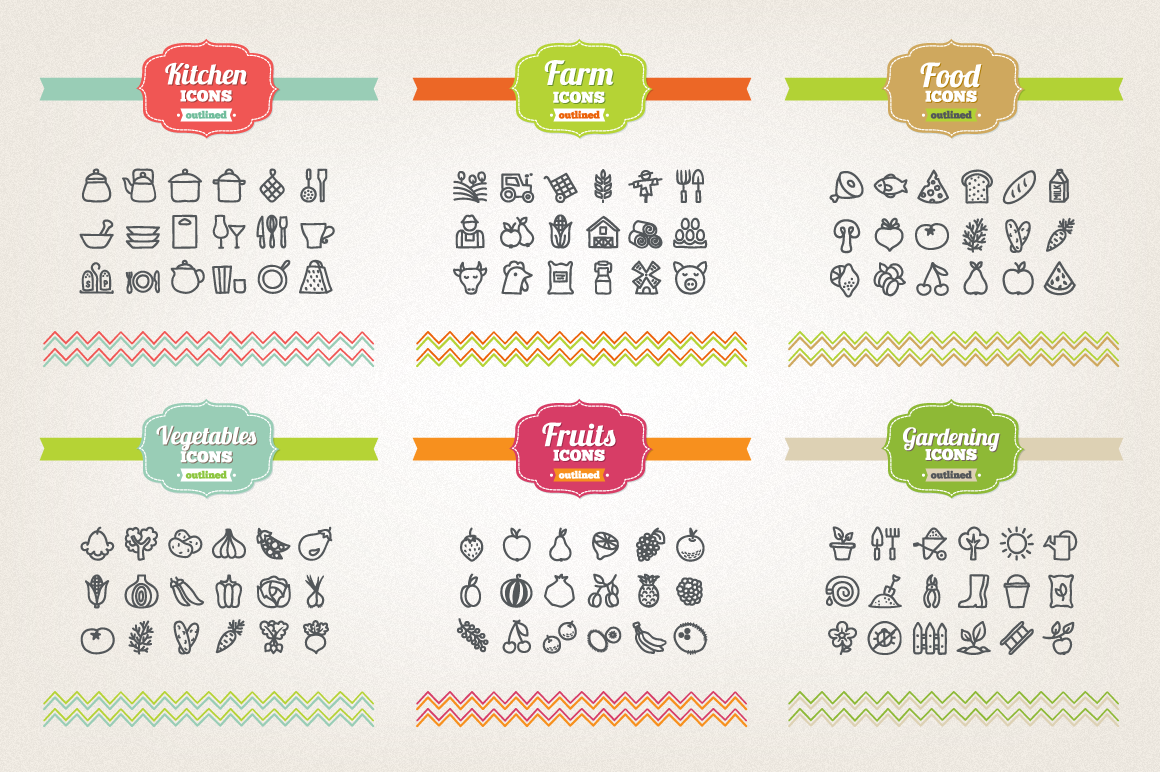 83 Off - Hand Drawn Icons Bundle example image 6