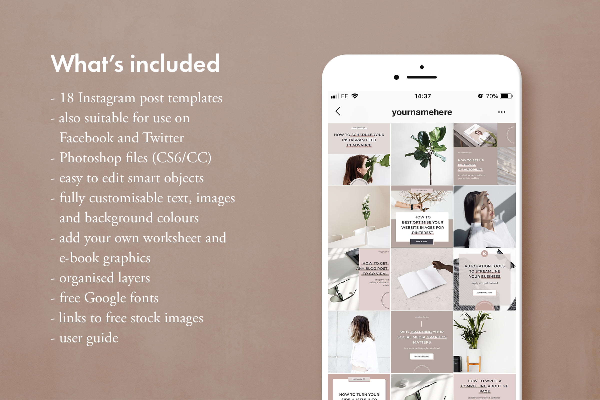 Instagram post template pack for bloggers example image 2