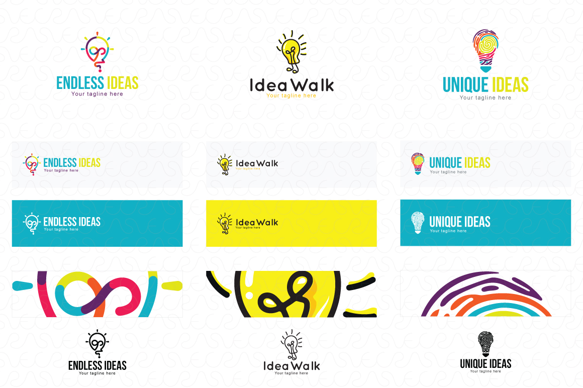 Ideas Bulb Logo Templates Pack of 13 Awesome unique designs example image 2