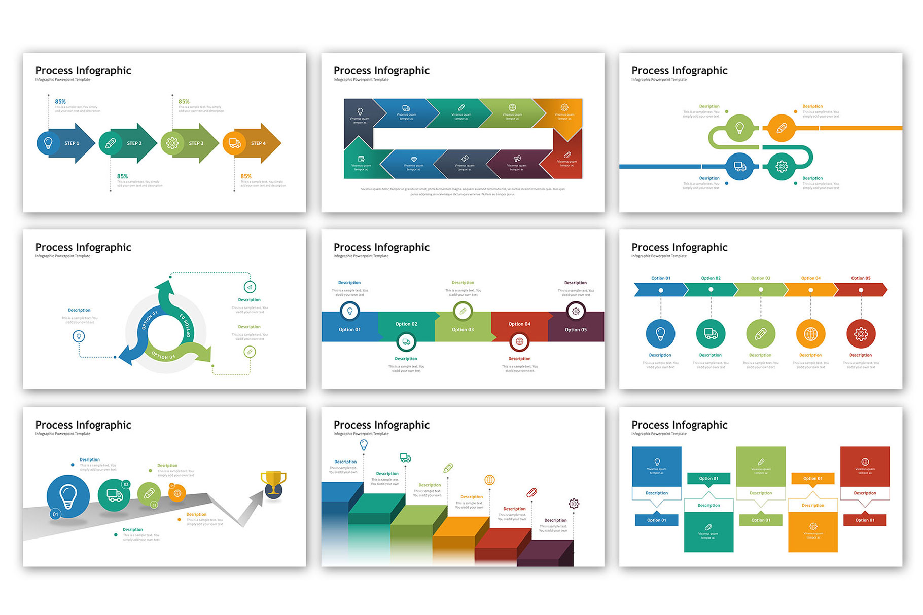 Process Presentation - Infographic Template example image 2