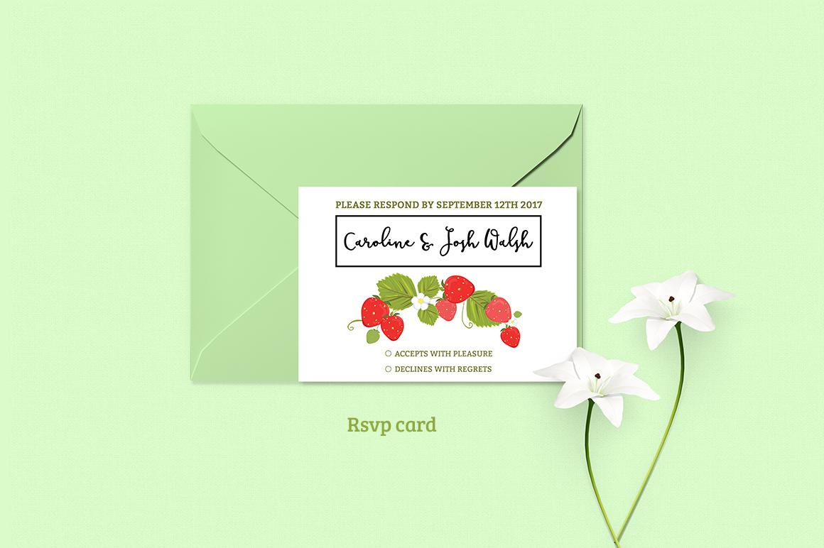 Summer Wedding Invitiation Set example image 4