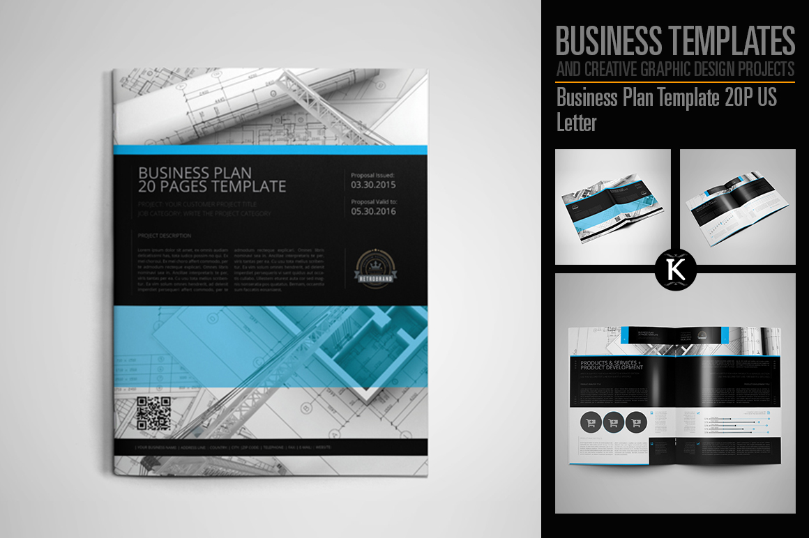 Business Plan Template 20P US Letter example image 1