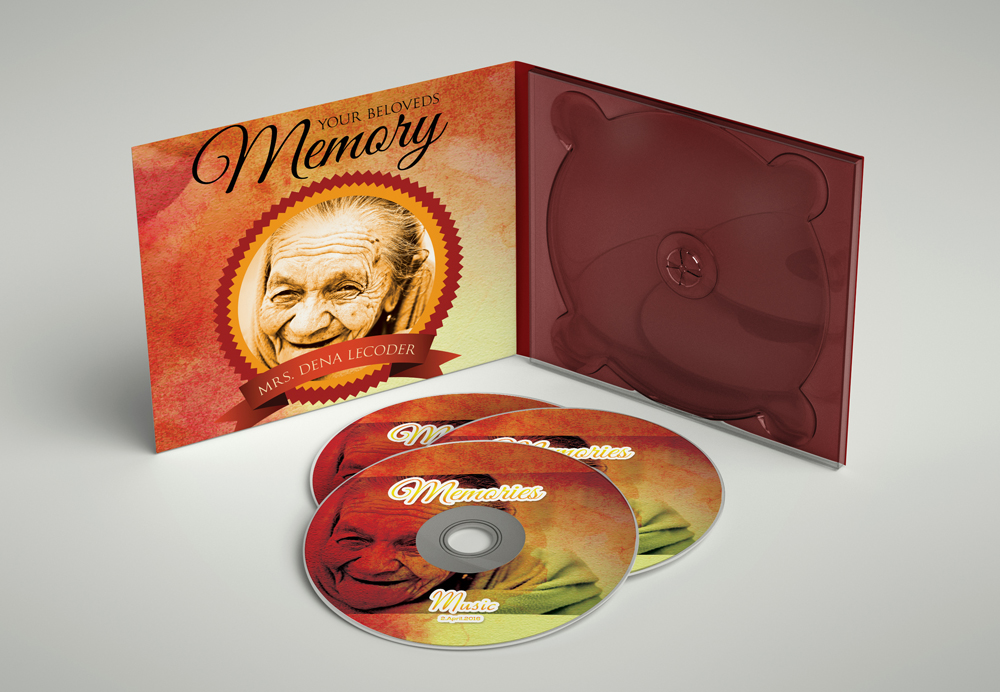 Memory / Memorial CD Covers Templates example image 2