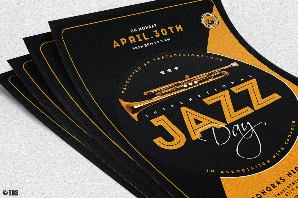 Jazz Day Flyer Template V3 example image 5