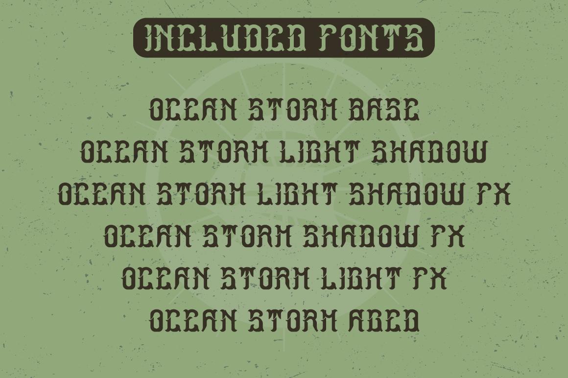 Ocean Storm label font example image 5