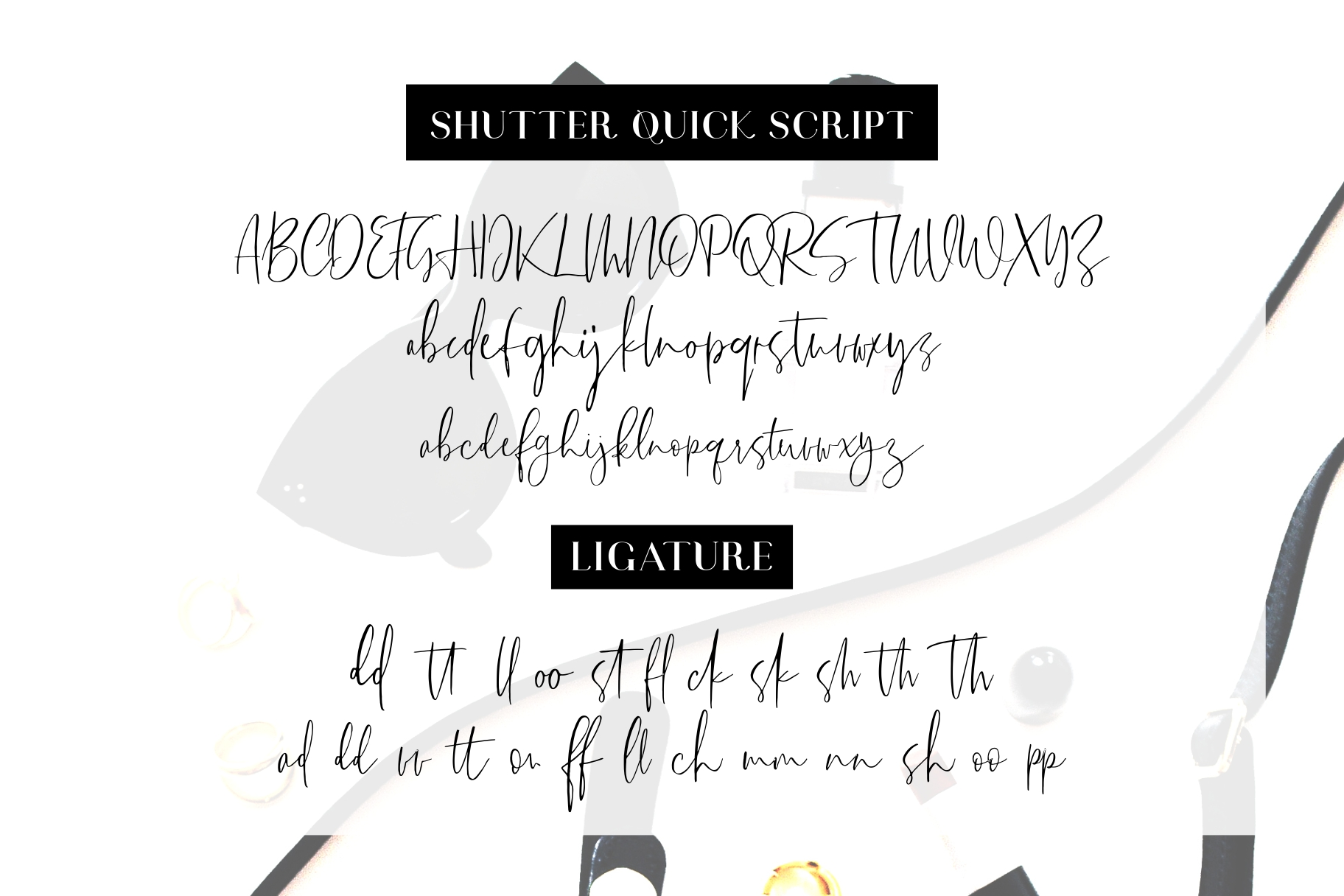 Shutter Quick Font Duo example image 11