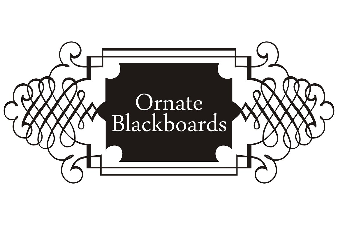 Ornate Blackboards pack example image 1