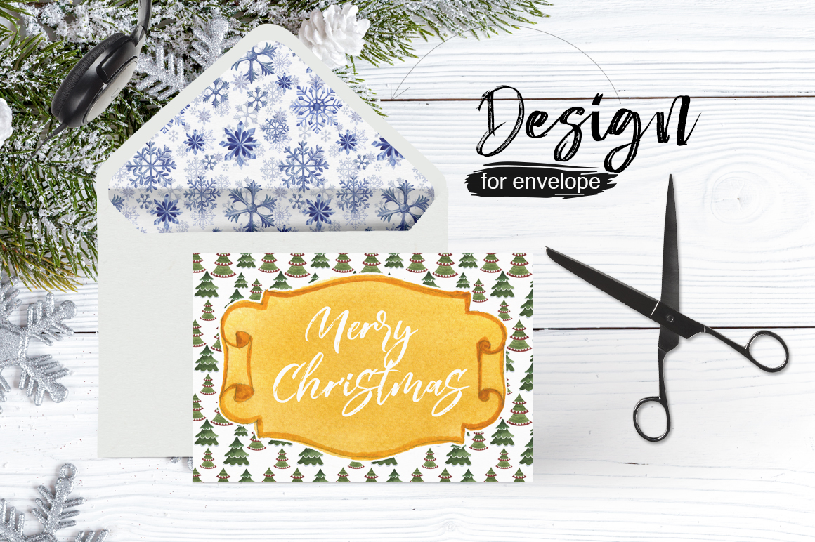 Gift labels PNG watercolor set example image 3
