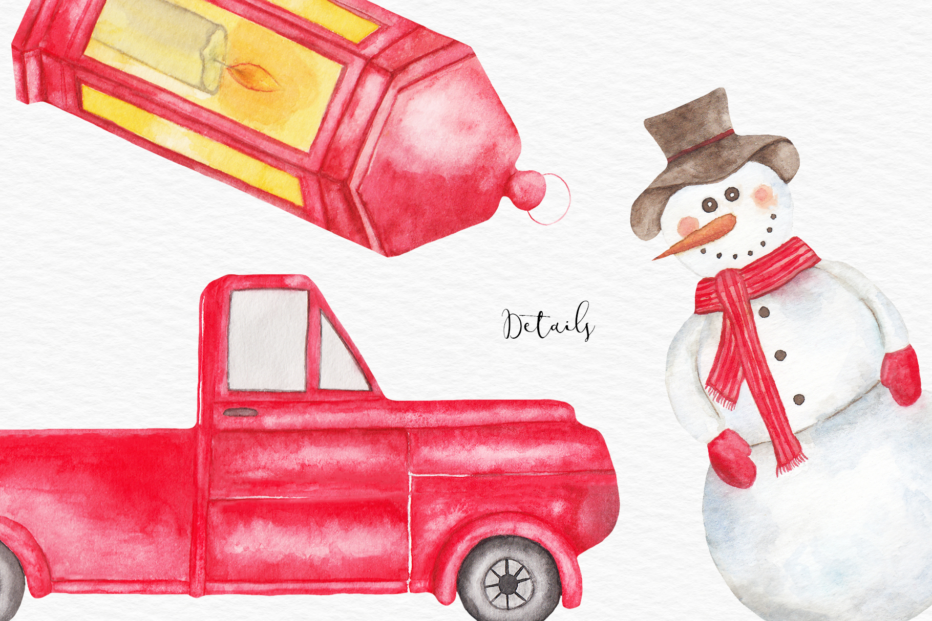 Watercolor Christmas Clipart, Christmas Illustration example image 3