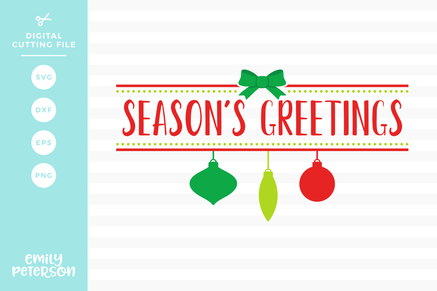 Season's Greetings SVG DXF EPS PNG example image 1