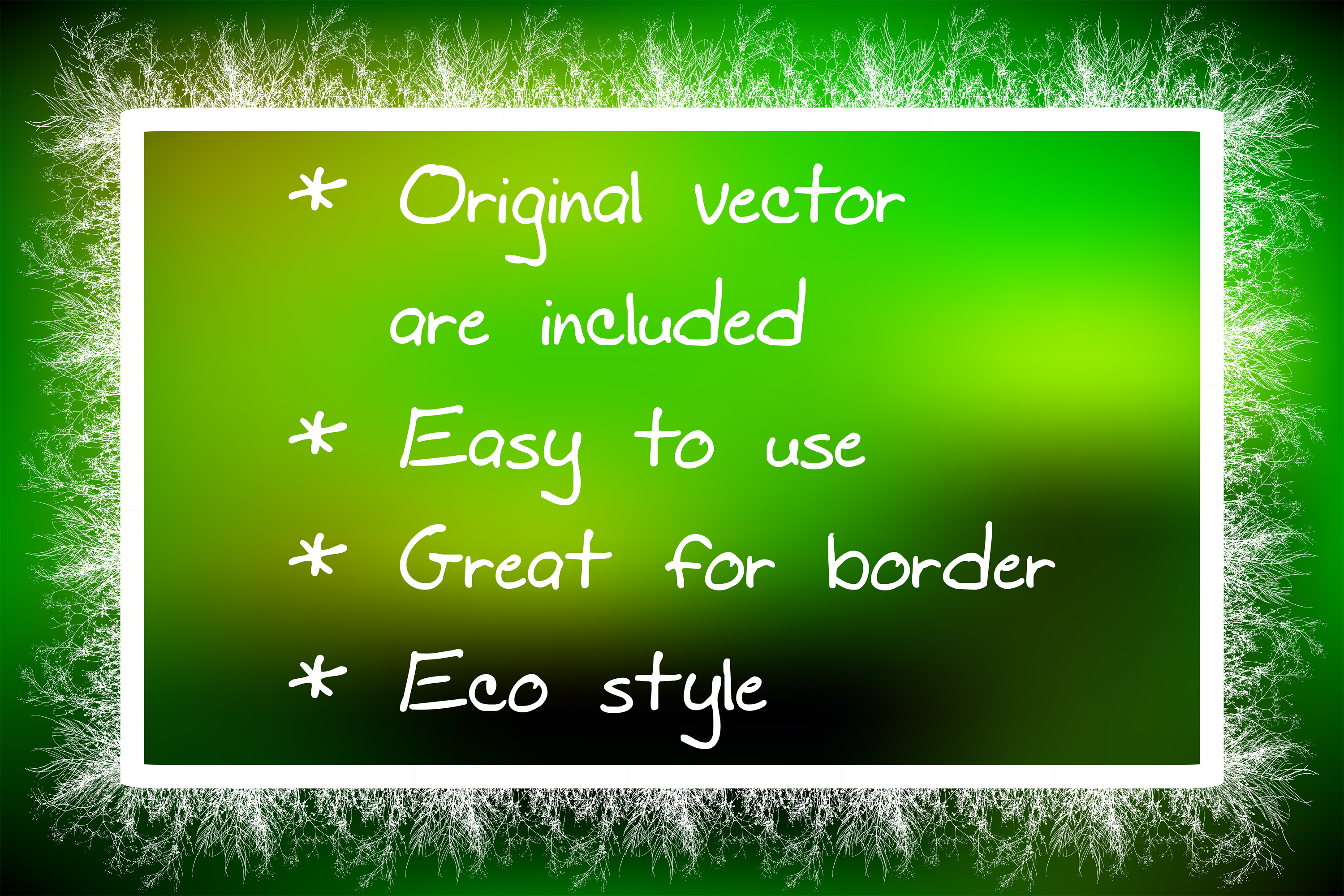 Wild Weeds-Natural Eco Grass Illustrator Pattern Brushes example image 2