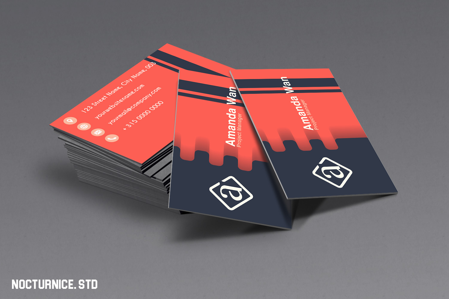 Modern Minimalist Business Card Template example image 1