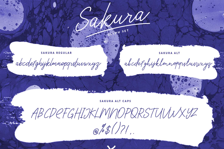 Sakura Font Set example image 6