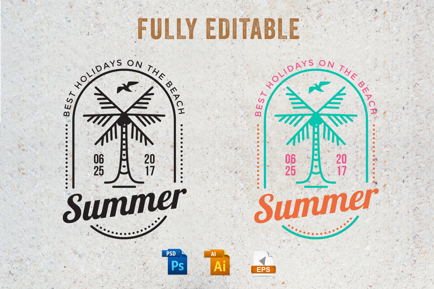 15 Summer Logo Labels & Badges Bundle example image 2