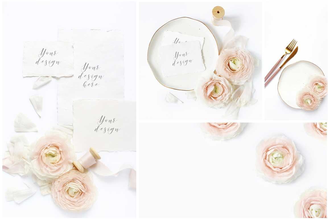 Blush Wedding mockups  & stock photo bundle example image 2