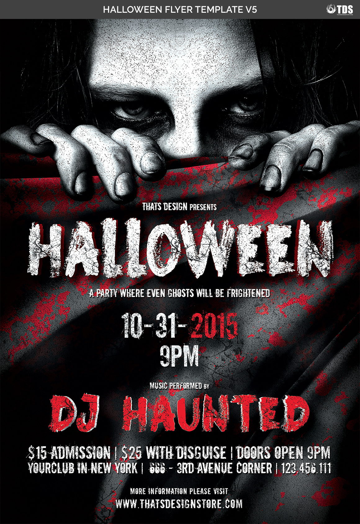 Halloween Flyer Template V5 example image 7