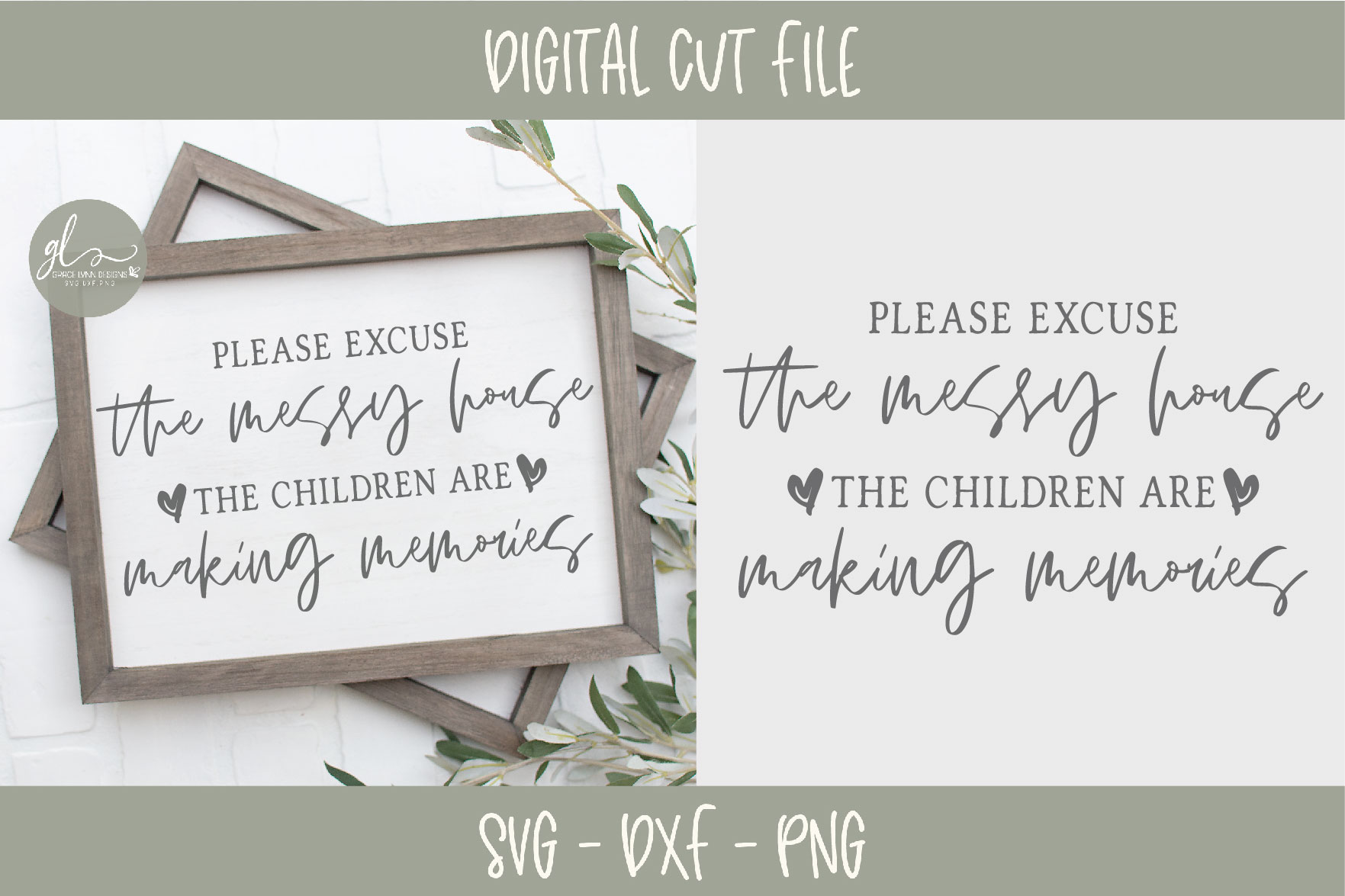 Please Excuse The Messy House - SVG example image 1