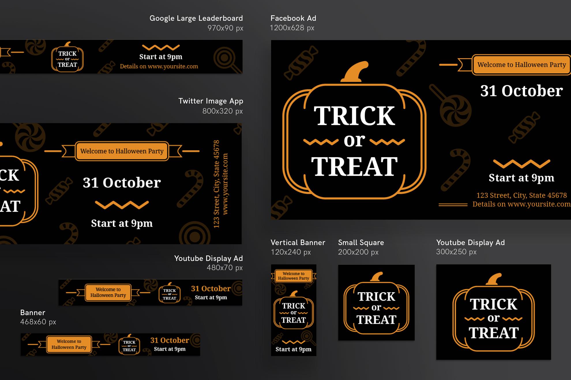 Halloween Party Design Templates Bundle example image 6