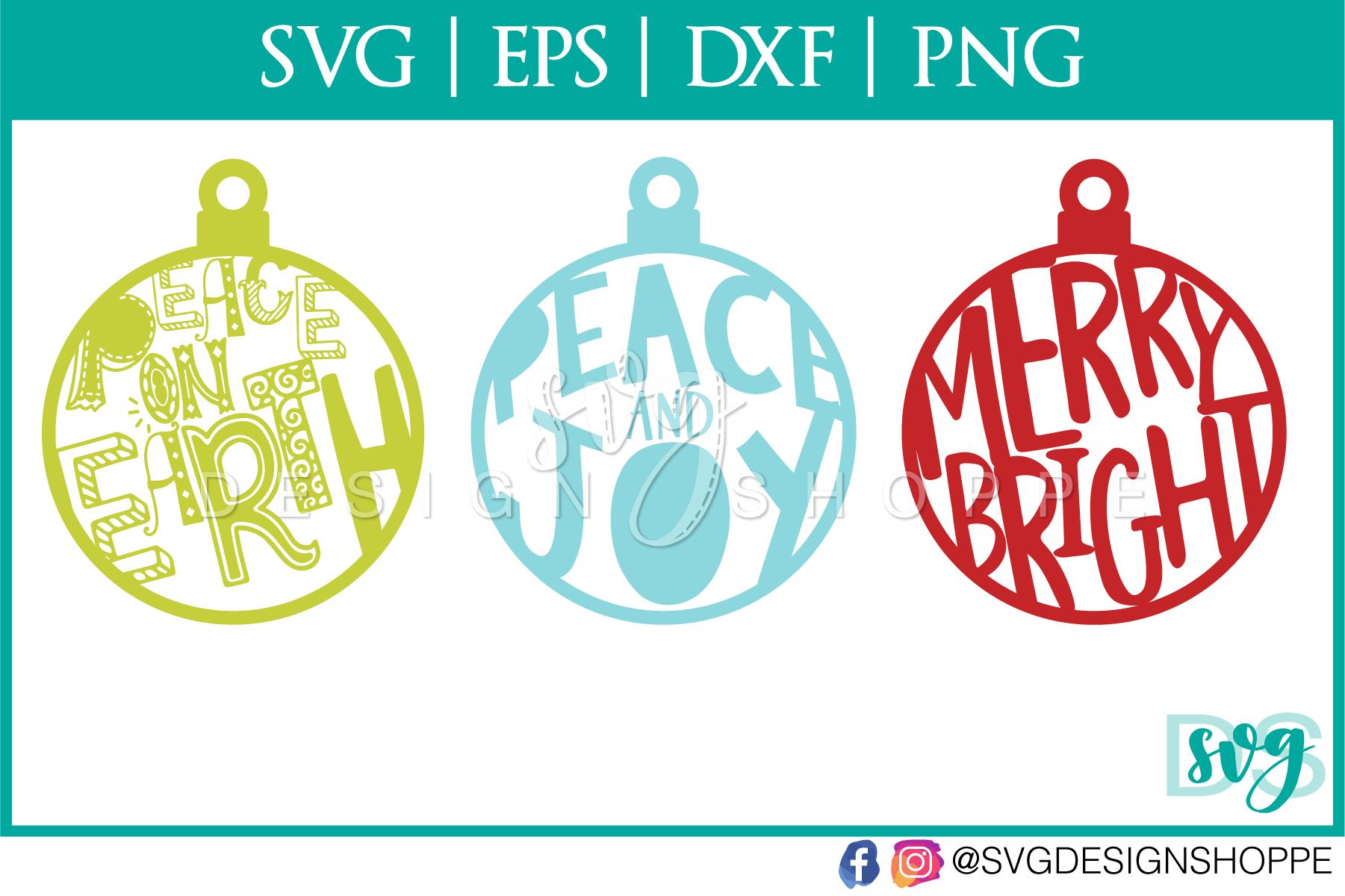 Christmas Ornaments, Christmas, SVG, SVG files for Cricut example image 2