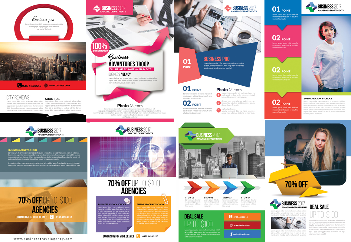 50 Business Flyers pack example image 6
