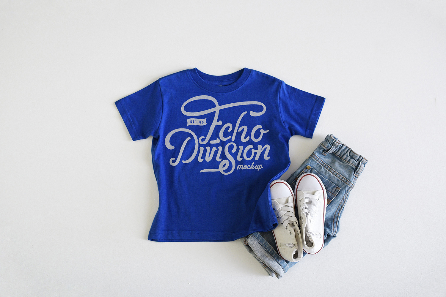 Rabbit Skins Mockup- Toddler Jersey Tee - 3321- Royal example image 1