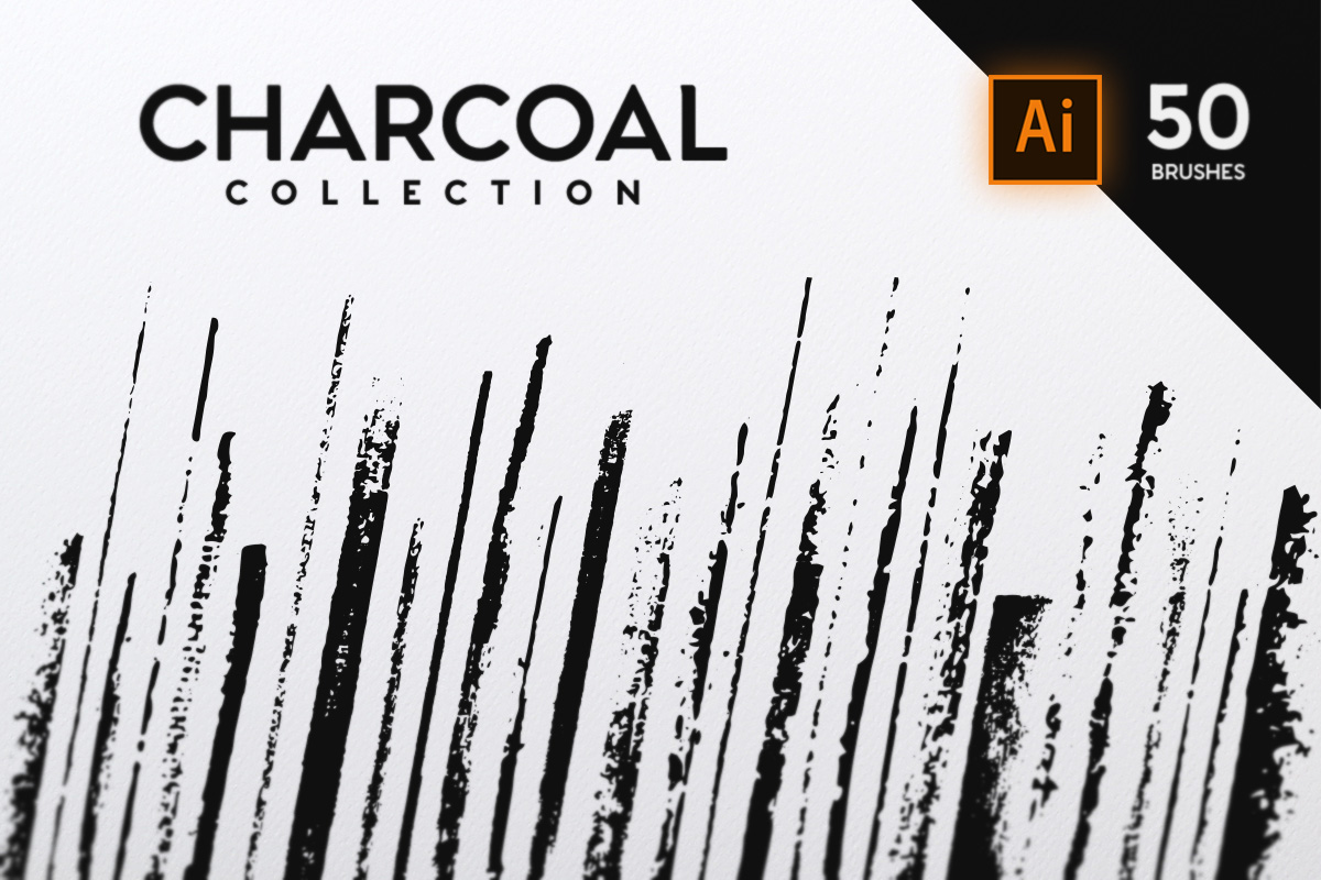Charcoal Brush Collection example image 1