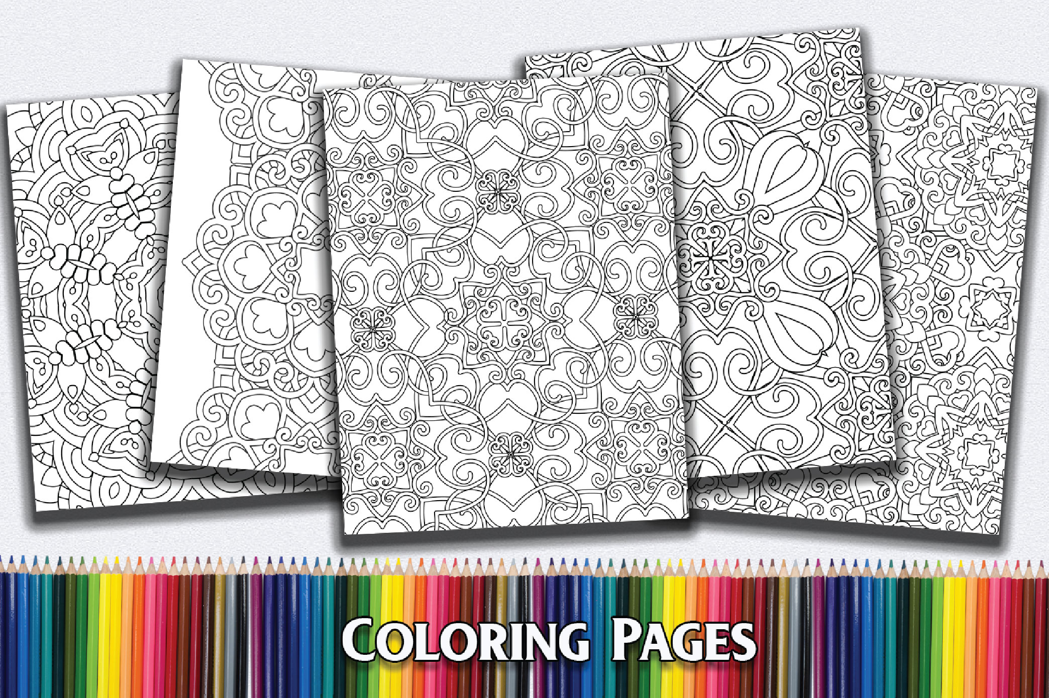 50 Geometric Coloring Pages example image 2